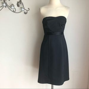 THE LIMITED Black Satin Strapless Cocktail Dress